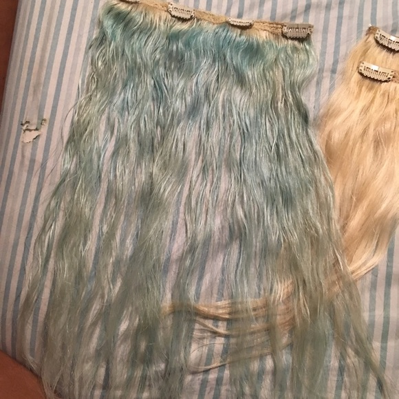 Bellami Accessories Baby Blue Clip In Human Hair Extensions Poshmark